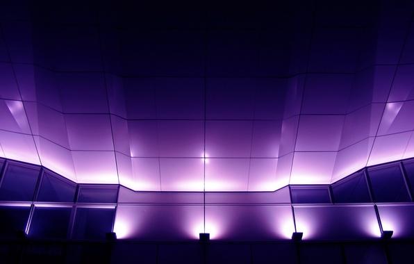 Картинка свет, огни, стена, праздник, сцена, фонари, потолок, концерт, рампа