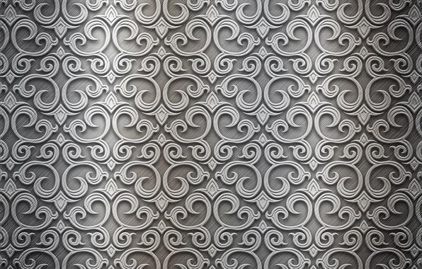 Картинка металл, узор, silver, metal, texture, background, pattern, steel, metallic