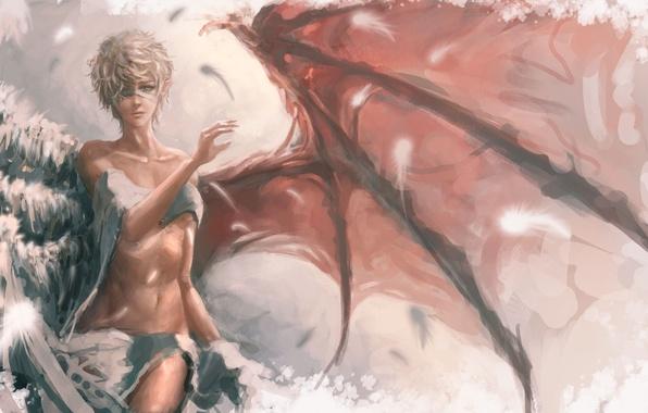 Картинка Девушка, Ангел, Крылья
