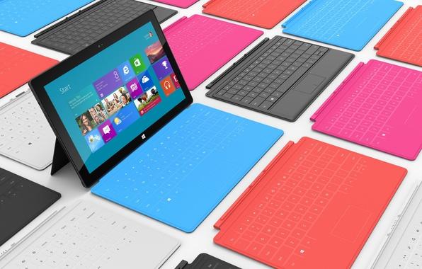 Картинка клавиатура, microsoft, планшет, windows 8, surface