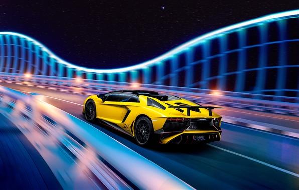 Картинка Lamborghini, SuperVeloce, Aventador, LP 750-4, Lamborghini Aventador LP 750-4 SuperVeloce Roadster