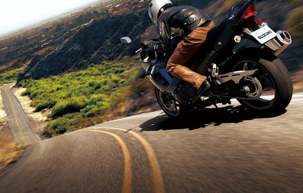 Картинка дорога, мотоцикл, байк, moto, road, auto walls, slopes, hills