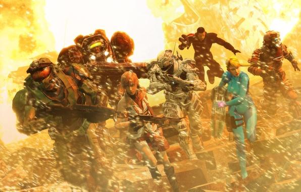 Картинка игры, Halo, starcraft 2, dead space, lightning, Mass Effect, айзек кларк, масс эффект, шепард, лайтнинг, …