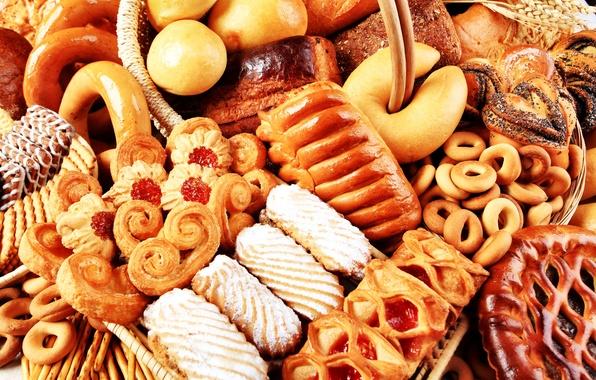 Картинка печенье, сдоба, выпечка, пирожные, сушки, пирожки, булочки, cookies, baking, pies