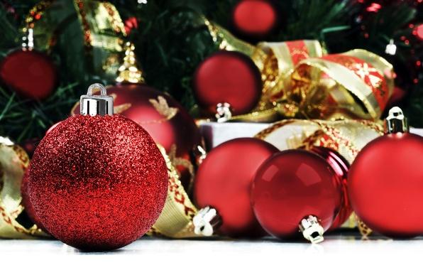 Картинка шарики, фото, настроение, праздник, обои, новый год, подарки, картинка, елочные украшения