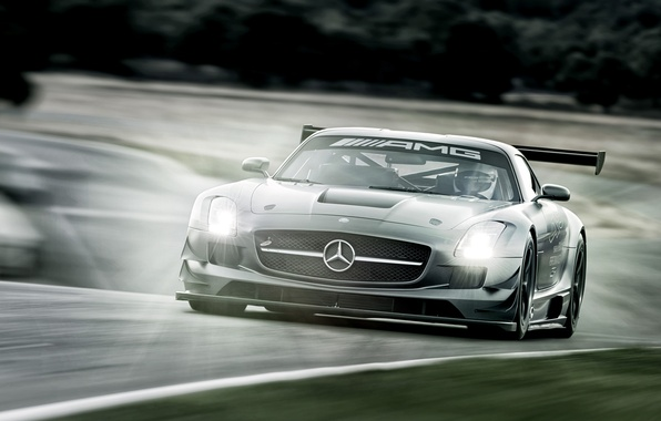 Картинка Mercedes-Benz, суперкар, 2012, мерседес, AMG, GT3, амг, C197, SLS 63, 45th Anniversary