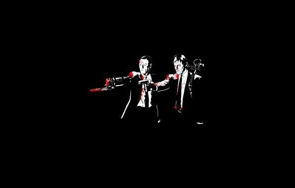 Картинка Черный, Кровь, Криминальное чтиво, The Walking Dead, Ходячие мертвецы, Дэрил Диксон, Мерл Диксон