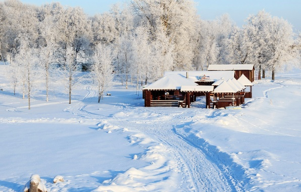 Обои на рабочий стол зима в россии