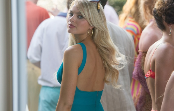 Картинка кадр, платье, очки, блондинка, The Wolf of Wall Street, Волк с Уолл-стрит, Margot Robbie, Марго …
