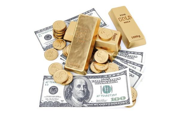 Картинка Монеты, Деньги, Золото, Доллары