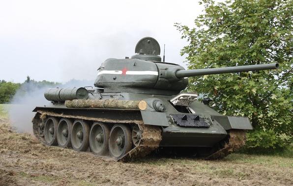 Картинка танк, легенда, советский, средний, Т-34-85
