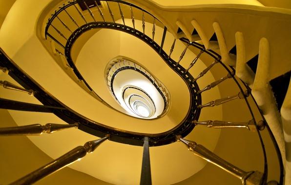 Картинка краски, спираль, ограждение, лестница, перила