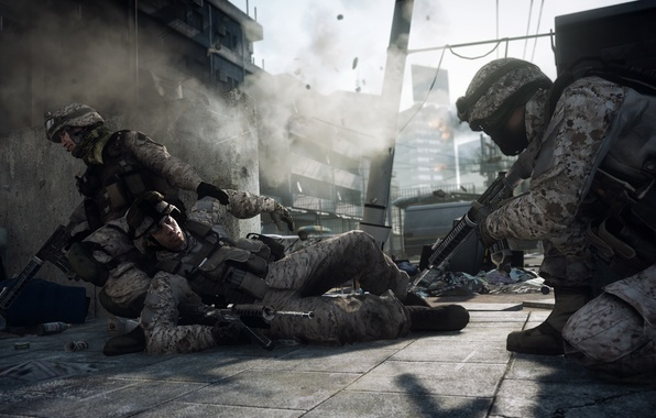 Картинка игра, солдаты, battlefield, game, Battlefield 3