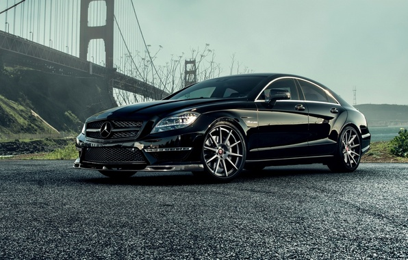 Картинка Mercedes-Benz, AMG, Black, Sedan, C218, CLS 63, 2015, CLK-Class