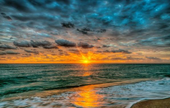 Картинка песок, море, пляж, небо, вода, пейзаж, закат, природа, океан, beach, sky, sea, ocean, landscape, nature, …