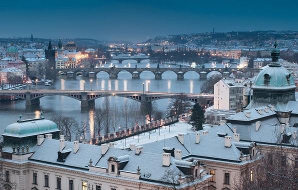 Картинка winter, Prague, cityscape, Czech Republic