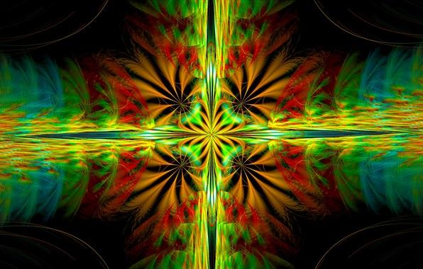 Картинка свет, отражение, узор, цвет, симметрия