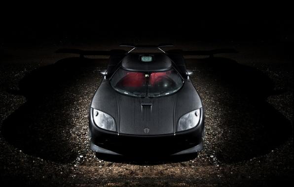 Картинка ночь, Koenigsegg, перед, суперкар, карбон, supercar, night, front, carbon, CCXR, кёнигсегг, Edition