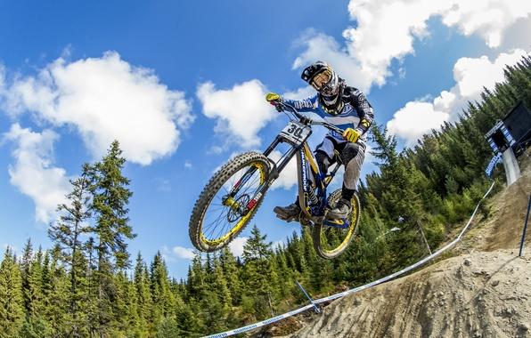 Картинка велосипед, прыжок, гонка, спорт