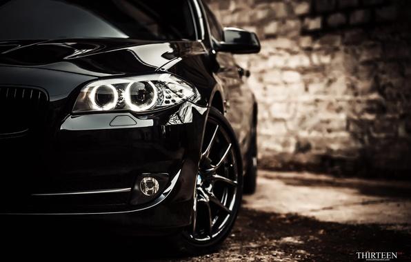 Картинка машина, авто, фары, BMW, фотограф, оптика, перед, auto, photography, photographer, Thirteen