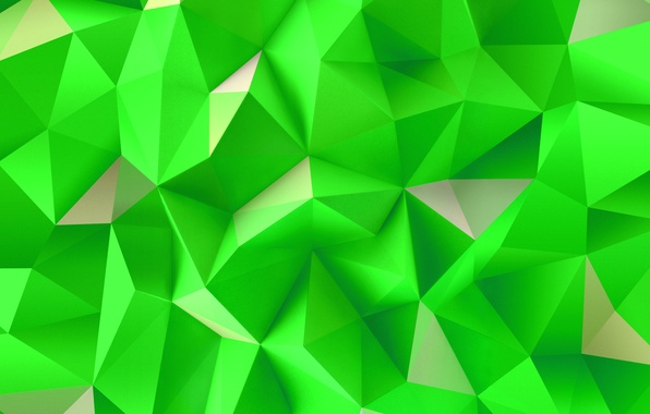 Картинка Green, Wallpaper, Abstraction, Triangles