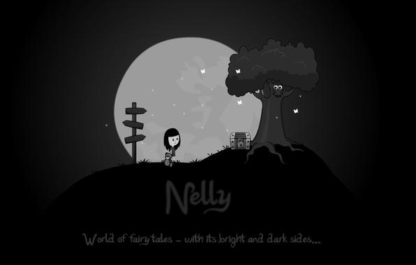 Картинка ночь, игра, сказка, девочка, нелли