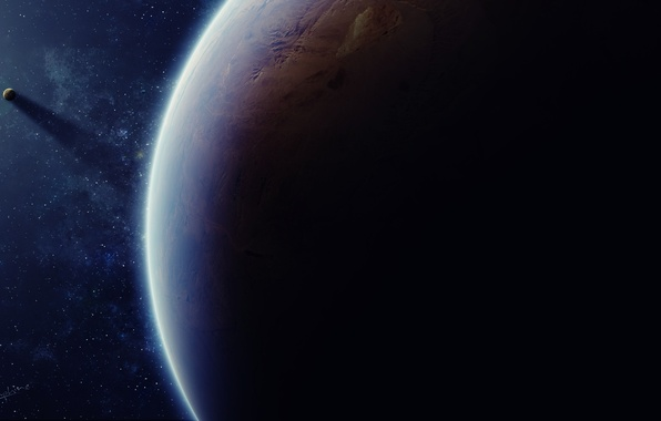 Картинка dark, planet, mystery, Sci fi