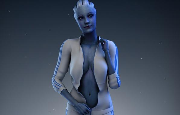 Картинка костюм, mass effect, Лиара, liara t'soni, asari