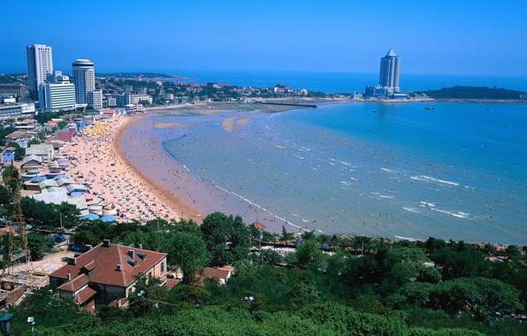 Картинка пляж, китай, дома