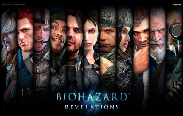 Картинка wallpaper, resident evil, персонажи, Capcom, Resident Evil: Revelations, Biohazard, Джилл Валентайн, Jill Valentine, Rachael, Chris …