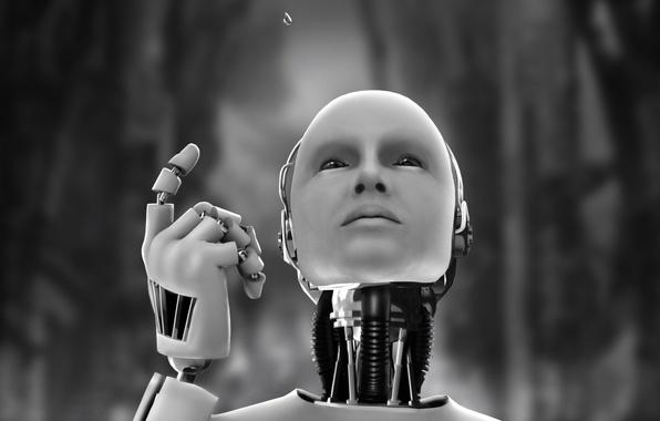 Картинка капля, робот, андроид