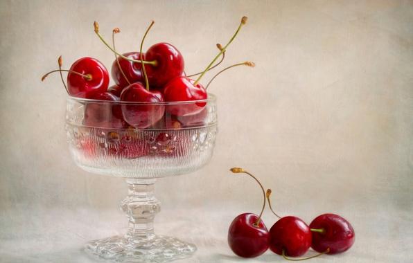 Картинка ягоды, черешня, вазочка