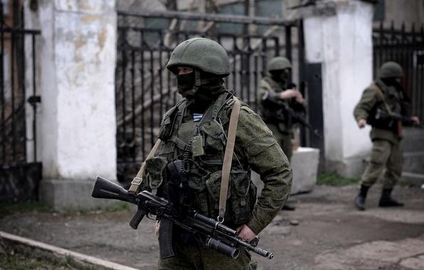 Картинка маска, автомат, солдаты, шлем, Россия, Крым, военные, Севастополь, вежливые люди, вдв