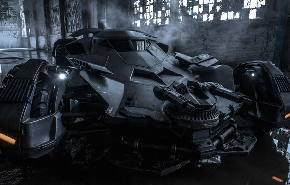 Картинка авто, пулемет, batmobile, борня, batman v superman dawn of justice