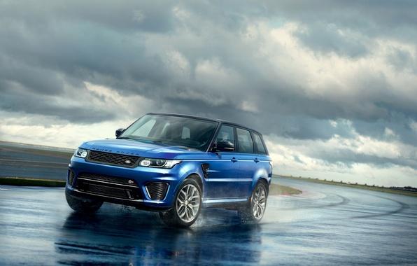 Картинка фото, голубой, Land Rover, Range Rover, автомобиль, 2015, Sport SVR