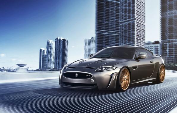 Картинка Jaguar, City, Car, Speed, Front, Sport, Road, XKR-S
