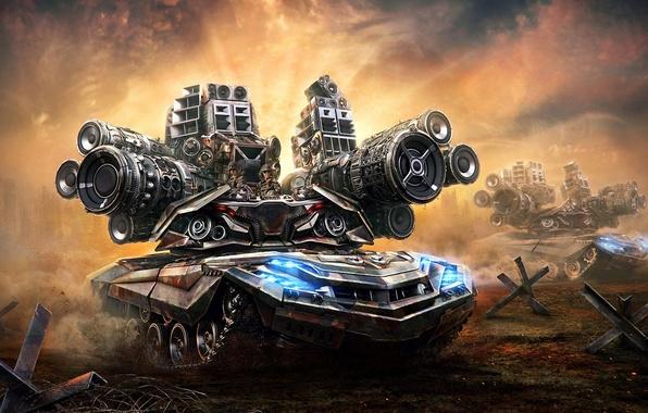 Картинка оружие, пушки, арт, солдаты, танк, Aleksandr Kuskov