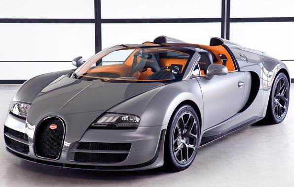 Картинка Roadster, Машина, Бугатти, Bugatti, Серый, Вейрон, Машины, Veyron, Car, Автомобиль, Cars, Grey, Автомобили, Grand Sport, …