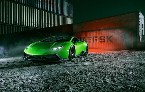 Картинка машина, свет, фары, тюнинг, Lamborghini, Spyder, передок, Novitec, Torado, Huracan, новитек