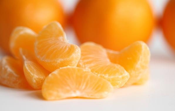 Картинка макро, фрукт, мандарин