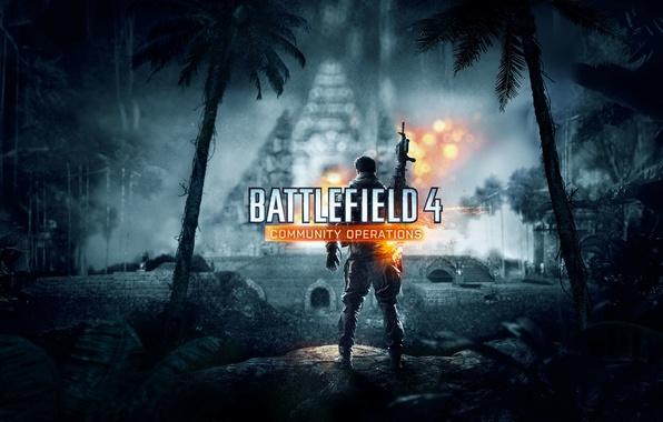 Картинка Огни, Свет, Солдат, Оружие, Военный, Electronic Arts, DLC, DICE, Battlefield 4, EA Digital Illusions CE, …