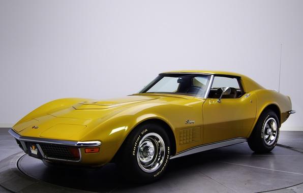 Картинка Corvette, Chevrolet, классика, auto, 1970, wallpapers, корвет, Stingray