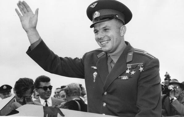 Картинка улыбка, форма, СССР, легенда, лётчик, Юрий Алексеевич Гагарин, первый космонавт, Герой Социалистического Труда, Gagarin, Герой …