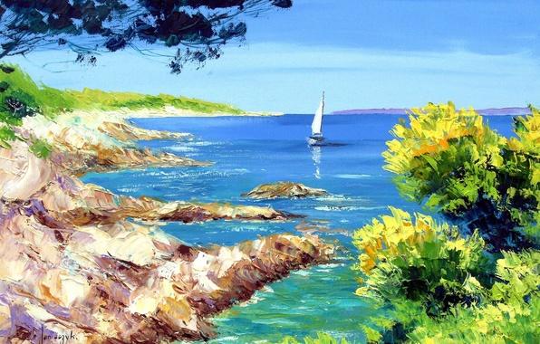 средиземноморские пейзажи обои на рабочий стол № 648686 бесплатно
