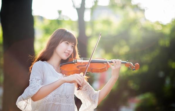 Картинка девушка, восточная, скрипачка