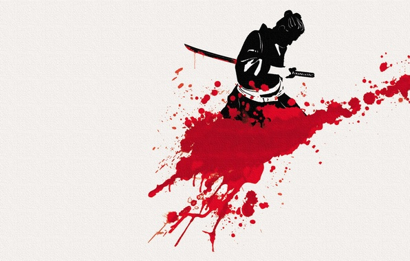 Картинка фон, меч, катана, самурай, мужчина