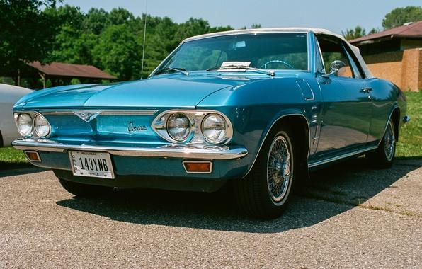 Фото обои Chevrolet, Corvair, классика, кабриолет, передок
