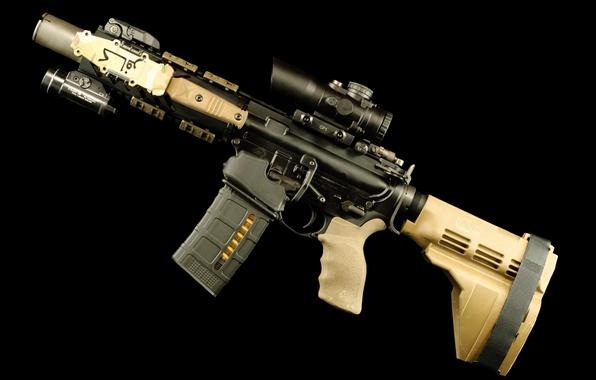 Картинка wallpaper, gun, weapon, rifle, assault rifle, AR-15, AR 15, AR15, carbine, Armalite, hd, 4k, Eugene ...