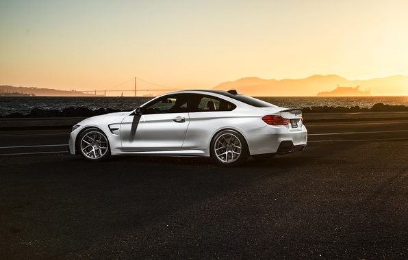 Картинка BMW, Car, Sunset, White, Sport, Collection, Aristo, F82, Rear