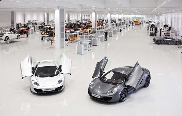Картинка суперкар, cars, auto, cars walls, Supercars, wallpapers auto, обои авто, Завод, McLaren MP4-12C